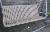 Cómo renovar un jardín asiento con listones de la cama IKEA