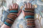 Guantes sin dedos tejidos