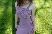 Vestido de verano de dos círculos de tela