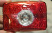 Luz Visible luz - bicicleta delantero/trasero Combo - 100 lúmenes 2 AA