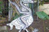 Chicken Skeleton Paper Puppet