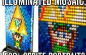 Iluminado el mosaico LEGO Sprite retratos