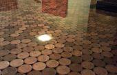 Encimera de resina de monedas