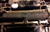 Renovando una vieja placa de máquina de escribir