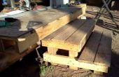 Diseño y construcción de pasos para un cobertizo prefabricado