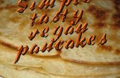 Tortitas veganas simple, sabroso