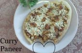 Paneer Pizza Curry simple