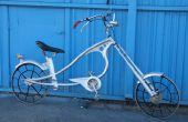 Bicicleta chopper hecha de encontrar materiales