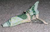 Lanzadera de espacio de cuenta de dólar Origami