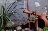 Fuente de japonés Shishi-odoshi de tubo de cobre