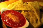 Pan plano aperitivo w/asado tomates y queso de cabra (también conocido como sabroso aperitivo)