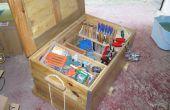 Arcon para herramientas con madera de palet - pecho de herramienta con madera de palet