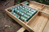 Construir un muelle con barriles Heineken