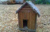 Decorativa de la casa con palos de coco