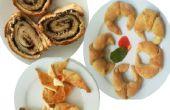 Rodillo del danés, dulce Croissants salados Croissants