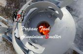 Fundición de aluminio tanque de propano (sin soldadura).