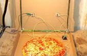 Radio de cristal para ir: un receptor portátil, batería de cristal en una caja de Pizza