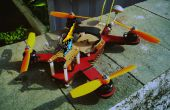 El láser 240 clase corte FPV Mini-Quadcopter!