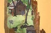 ANTIGUA pintura de madera