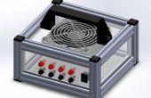 La fuente de alimentación PC ATX antigua para el caso de suministro de energía laboratorio nuevo