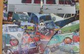 VW camper decoupage personalizados bulli van bus refrigerado reloj marco.