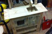 Juguete de cocina de madera de la plataforma