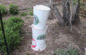 Alimentador del pájaro taza de café y agua