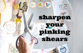 Afila tus tijeras dentadas con papel de aluminio