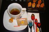 Carácter de bolsitas de té e infundido terrones de azúcar