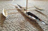 Cartón modelo canoa de vela