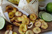 Chips de plátano - 3 deliciosos sabores horneadas crujientes