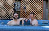 Medida de brazo de micrófono para un Podcast de bañera de hidromasaje