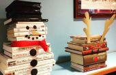 Muñeco de nieve libro escultura