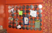 Tablero de la nota peculiar de la cara de botón / exhibición de la colección de Maganet / cenefa + Extra de crédito