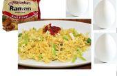 Ramen de fritos y huevos