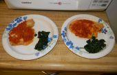 Talapia Chutney de tomate con verduras marchitas para 2