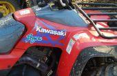 Solución de problemas o reparación de un Kawasaki Bayou KLF300 ATV eléctricos sistema de carga