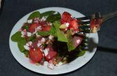 Ensalada de espinaca nuez fresa