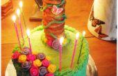 Pastel de torre de Rapunzel (para un partido enredado)