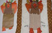 Proyecto de costura de acción de gracias gratis: Cómo convertir el proyecto de arte de papel de un niño en una pieza de arte de tela