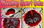 Torta corazón sangrante