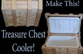 Caja del refrigerador del pecho del pirata