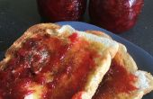 La abuela de mermelada de fresa y salsa