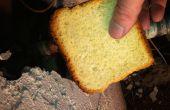 Con pan a un tubo de cobre que se escapa del sudor