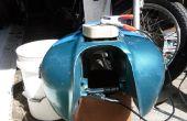 Electrolítico quitar el óxido de un tanque de Gas de motos