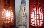 Linterna de bambú hecha a mano. Utilizando bambú viejo persianas.