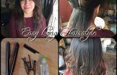 Peinado largo fácil usar una plancha alisa