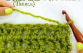 Cómo crochet Triple, también conocido como triple Crochet!