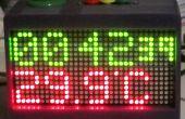 Colorido reloj de cuenta regresiva para la gestión de línea de tiempo apretado