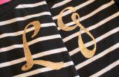 DIY: Hacer una brillante camiseta con monograma